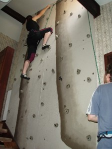 Indoor Rock Climbing Wall climb